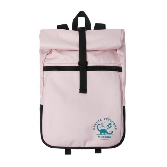 Рюкзак роллтоп Nikita Gruzovik с флоковым принтом розовый