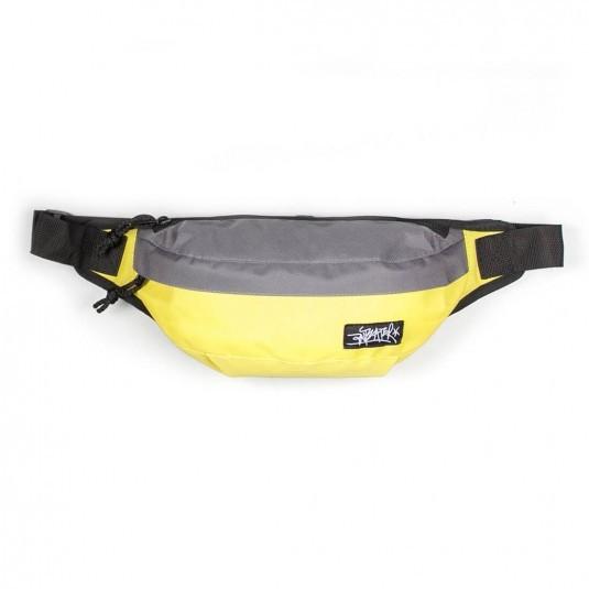 Поясная сумка Anteater серая с жёлтым