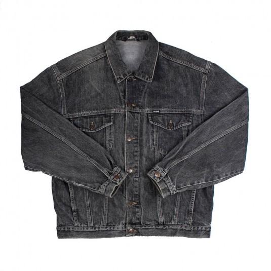 Чёрная джинсовая куртка Big Case