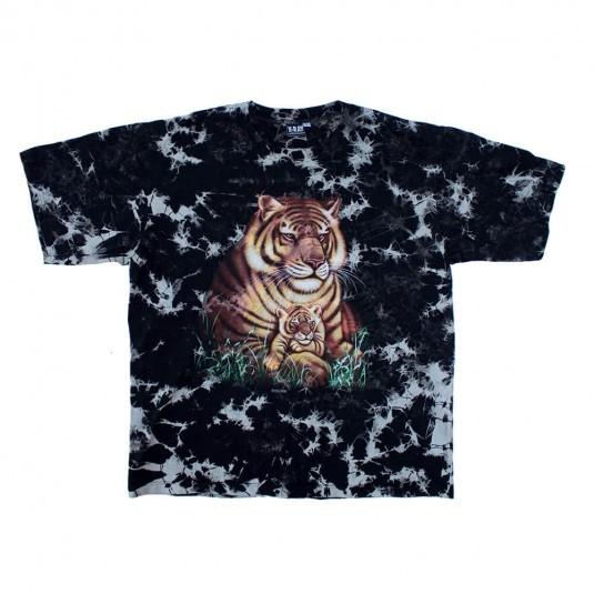 Футболка X-Ray тай дай с тиграми