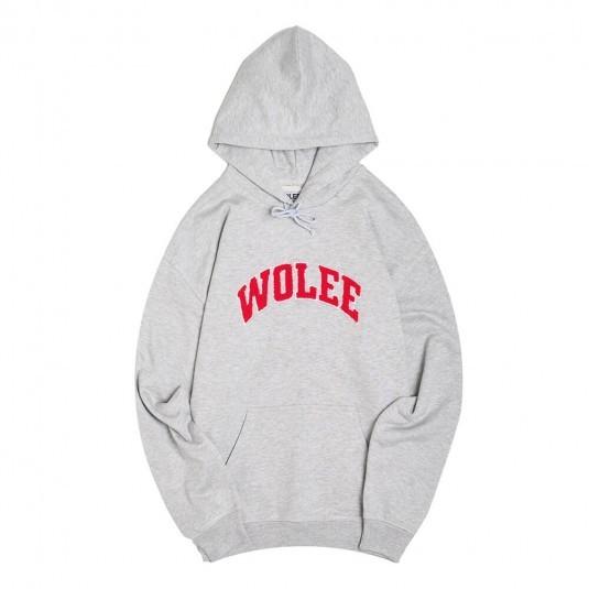 Худи Wolee College серая
