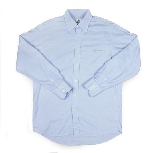 Рубашка Lacoste бело-голубая