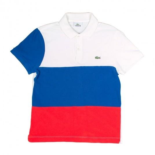 Поло Lacoste трёхцветное