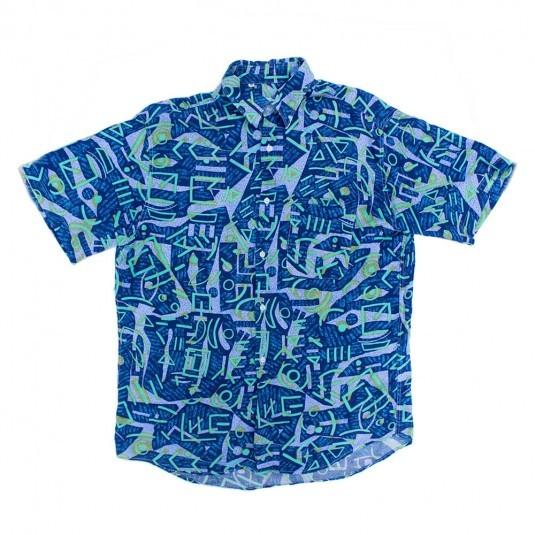 Рубашка с коротким рукавом и узорами