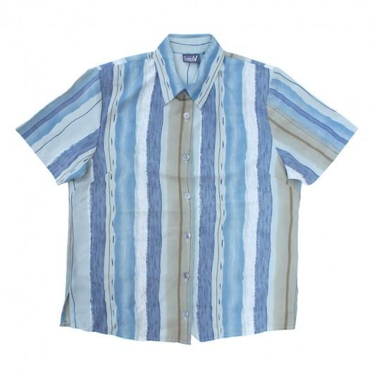 Женская ретро рубашка с плечиками LineaV