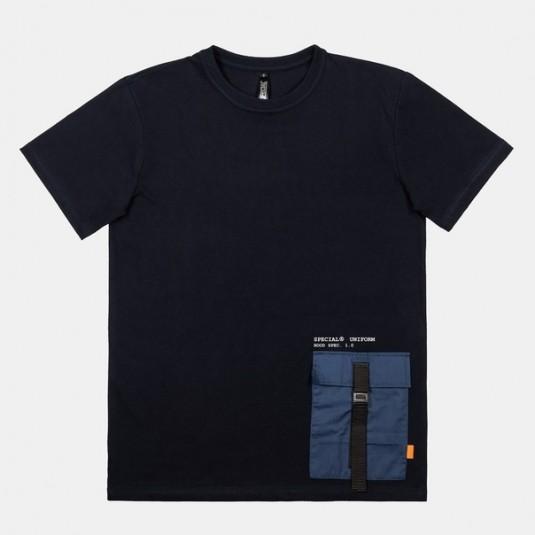 """Футболка SPECIAL """"ARMY POCKET"""" темно-синий карман"""