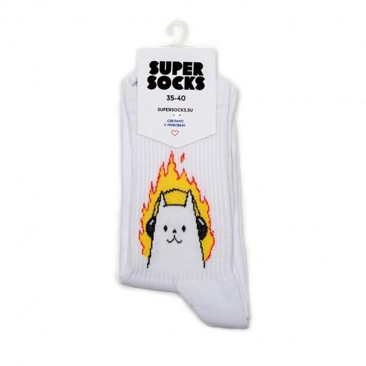 Носки Super Socks Котик в наушниках
