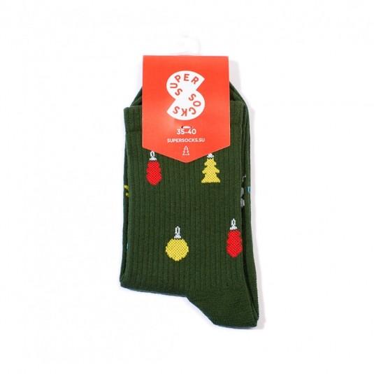 Носки Super Socks Новогодние украшения